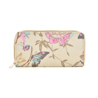 QQ2163 Q - Butterfly Pattern Casual Long Wallet