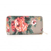 QQ2163 R - Plant Pattern Casual Long Wallet