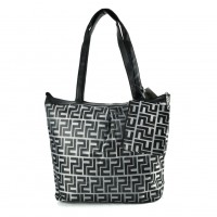 QQ2166 Black - Large Shopper Bag With Coin Purse