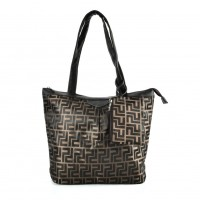 QQ2166 Coffee - Large Shopper Bag With Coin Purse