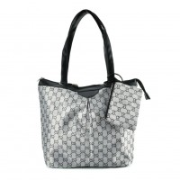 QQ2167 Black - Double E Shopper Bag With Coin Purse