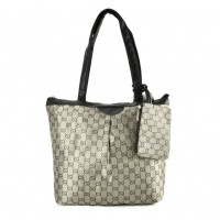 QQ2167 Coffee - Double E Shopper Bag With Coin Purse