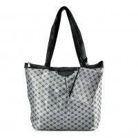 QQ2168 Black - Large Shopper Bag With Coin Purse