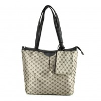 QQ2168 Coffee - Large Shopper Bag With Coin Purse