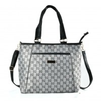 QQ2171 Black - Double E Shopper Bag With Shoulder Strap
