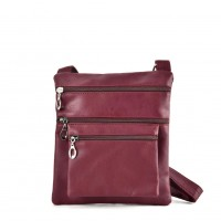 QQ2173 Red - Fashion Zip Detail Cross Body Bag