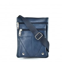 QQ2174 Blue - Fashion Zip Detail Cross Body Bag
