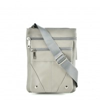 QQ2174 Grey - Fashion Zip Detail Cross Body Bag