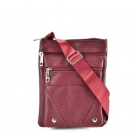 QQ2174 Red - Fashion Zip Detail Cross Body Bag