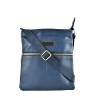 QQ2175 Blue - Fashion Zip Detail Cross Body Bag