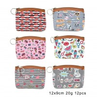 QQ2178 Assort Color 12pcs - Cartoon Mini Cute Coin Purse