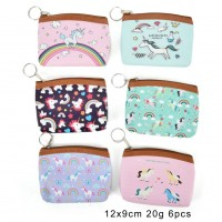 QQ2183 Assort Color 12pcs - Cartoon Mini Horse Print Coin Purse