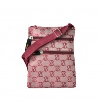 QQ2200 Pink - Classic Double E Cross Body Bag With Zip Front