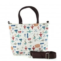 QQ2227 White - Cartoon Shopping Tote Bag