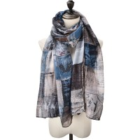SF1014 Black - Lightweight Soft Voile Scarf