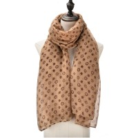 SF1017 Khaki - Fashion Supersoft Voile Scarf
