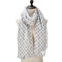 SF1017 White - Fashion Supersoft Voile Scarf