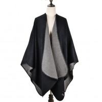 SF1040 Grey - Lady Winter Large Shawl Wraps