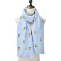 SF1042 Blue - Pineapple Print Supersoft Scarf