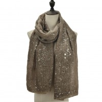 SF1110 Khaki - Starry Sky Patterns Scarf For Women