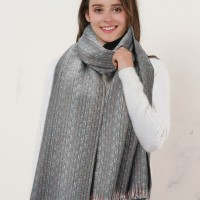 SF1149 Grey - Variegated Colors Scarf With Tassels