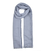 SF841-1 Grey - New Fashion Pearl Rule Winter Women Scarf