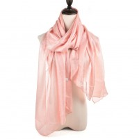 SF944 Pink - Fashion Women Solid Light Scarf