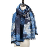 SF979 Blue - Fashion Supersoft Long Woven Scarf