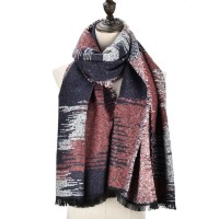 SF979 Navy - Fashion Supersoft Long Woven Scarf