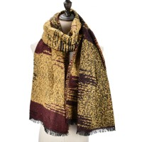 SF979 Yellow - Fashion Supersoft Long Woven Scarf