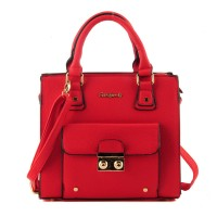 SY1444 Red - Sally Young Fashion Square Handbag