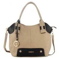 SY1471 Grey - Sally Young Slouch Bag with Metal Pendant