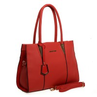 SY1487 Red - Sally Young Lady Style Candy Color Handbag Fashion Shoulder Bag