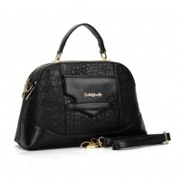 SY2099 Black - Sally young Fashion Designer Crocodile Pattern Women Handbags