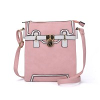 SY2104 Pink - Sally Young Metal Locks Decoration Handbag For Women