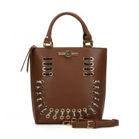 (Smiley) Sally Young Illusion Handbags Collection. SY2113 Brown