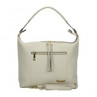 SY2117 Beige - Sally Young Double Zipper Solid Handbags For Women