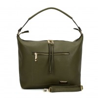 SY2117 Green - Sally Young Double Zipper Solid Handbags For Women