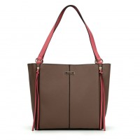 SY2118 Camel - Sally Young Zipper Decoration Women Solid Handbags