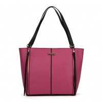 SY2118 Fushia - Sally Young Zipper Decoration Women Solid Handbags
