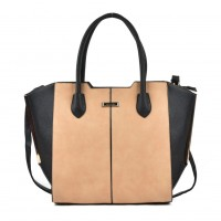 SY2124 Apricot - Sally Young Fashion Patchwork Bat Package Women Hangbag