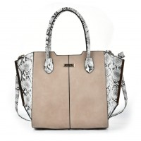 SY2124 Grey - Sally Young Fashion Patchwork Bat Package Women Hangbag