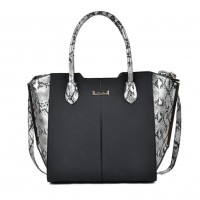 SY2124 Silver - Sally Young Fashion Patchwork Bat Package Women Hangbag