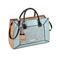 SY2130 Blue - Metal Pendant Women Patchwork Handbag