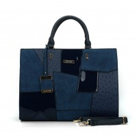 SY2136 Blue - Fashion Patchwork Pendant Bag For Women
