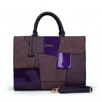 SY2136 Purple - Fashion Patchwork Pendant Bag For Women
