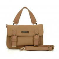 SY2137 Beige - Fashion Solid Satchels Women Handbag