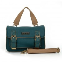 SY2137 Blue - Fashion Solid Satchels Women Handbag