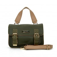 SY2137 Green - Fashion Solid Satchels Women Handbag