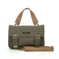 SY2137 Grey - Fashion Solid Satchels Women Handbag